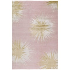 Thistle Gold Hand-Knotted 6x4 Rug in Wool and Silk by Vivienne Westwood