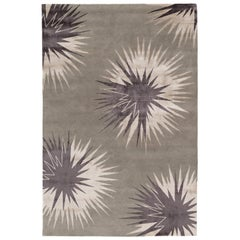 Thistle Pewter Hand-Knotted 10x8 Rug in Wool and Silk by Vivienne Westwood