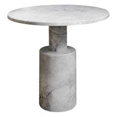 Tholos White Marble Medium Side Table