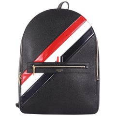 Thom Browne Classic Backpack Striped Leather Large