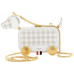 Thom Browne Rolling Dog Chain Clutch Leather