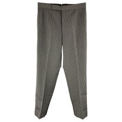 THOM BROWNE Size 30 x 30 Gray & Black Stripe Wool Casual Pants