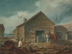 Thomas Baines FRGS (1820-1875) - 1848 Oil, Port Elizabeth