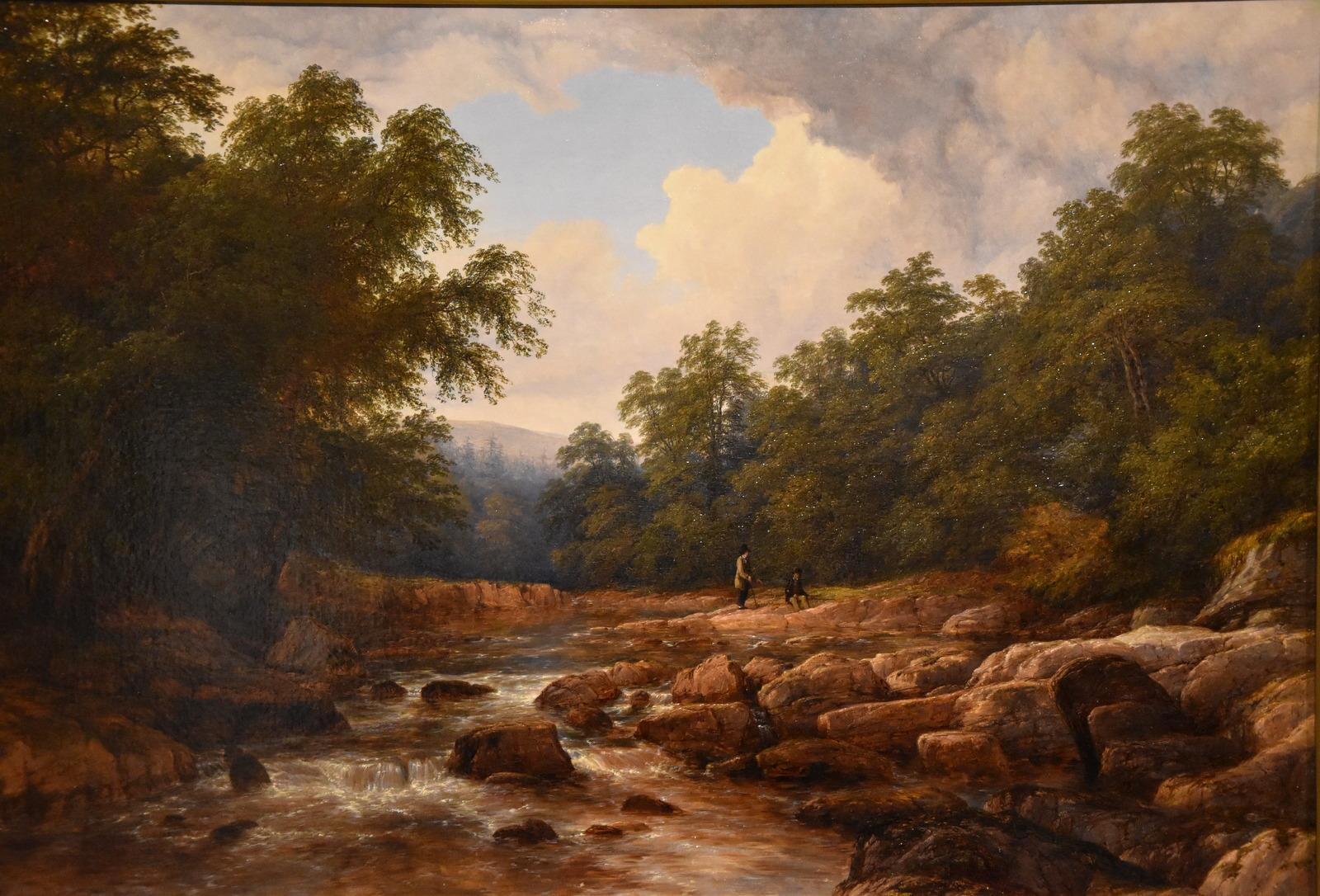 """Oil Painting by Thomas Baker """"On the Usk"""""""