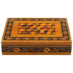 Thomas Barton Exceptional Tunbridge Ware Wooden Box, 19th Century
