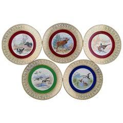 Thomas / Bavaria, Germany, Five Decoration Plates, 1930s-1950s