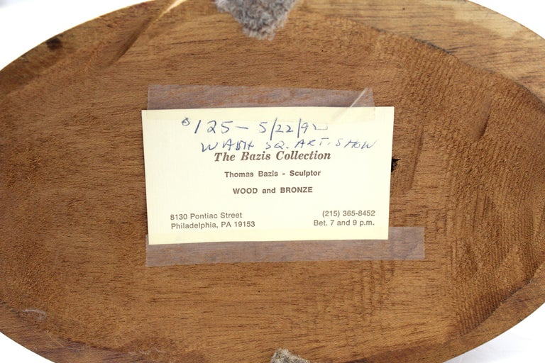 Thomas Bazis Mid-Century Modern Carved Wood Figural Sculpture 2