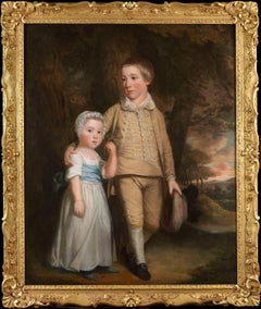 Thomas Beach (1738 - 1806) Two Children Oil on Canvas