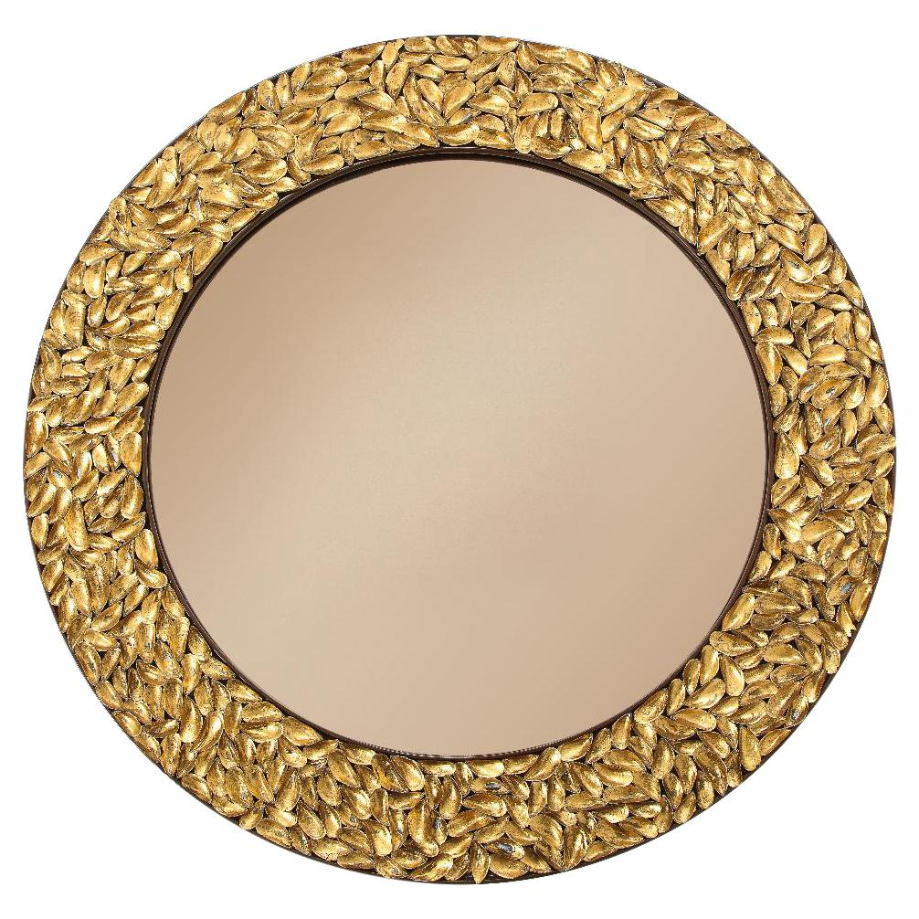 Thomas Boog French Unique Gilded Mussel Shell Mirror