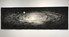 """Andromeda"" Large Scale Watercolor Galaxy painting by Thomas Broadbent"