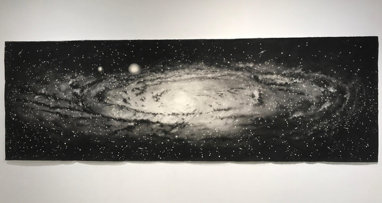 """""""Andromeda"""" Large Scale Watercolor Galaxy painting by Thomas Broadbent 1"""