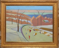 American Mid Century Modern Abstract Landscape by Thomas Eldred
