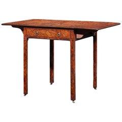 Thomas Chippendale Burr Yew Pembroke Table