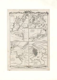 "1778 Map ""Various Plans and Draughts of Cities, Towns, Harbours..."""