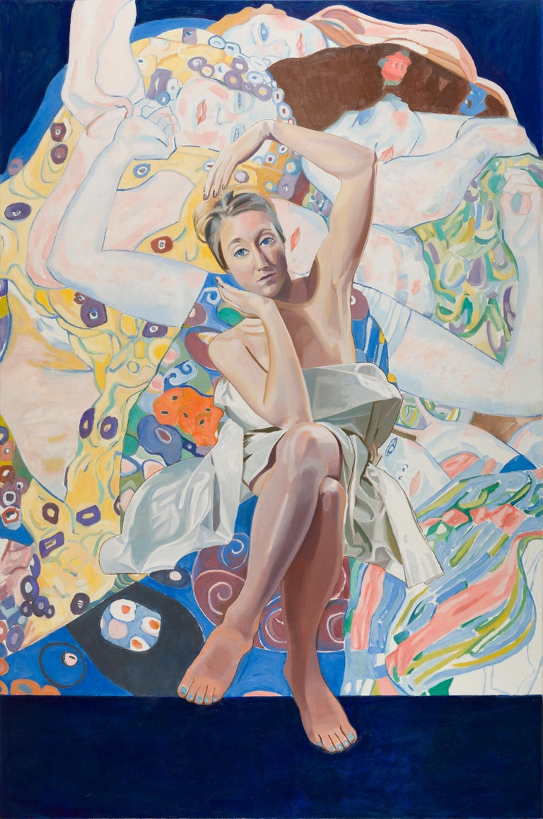 Thomas Darsney Figurative Painting - Samantha and Klimt