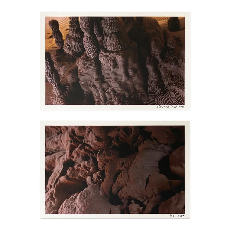 Thomas Demand Abstract Photograph - Grotto (from Catalogue Serpentine Gallery, Collector's Edition), 2 Photographs