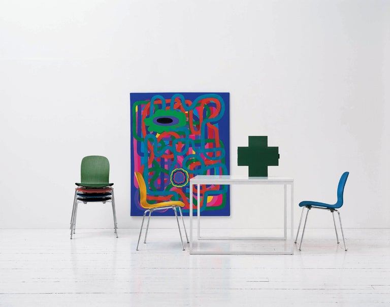 Italian Thomas Eriksson Cross Cabinet in Green Glossy Metal for Cappellini For Sale