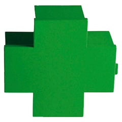 Thomas Eriksson Cross Cabinet in Green Glossy Metal for Cappellini