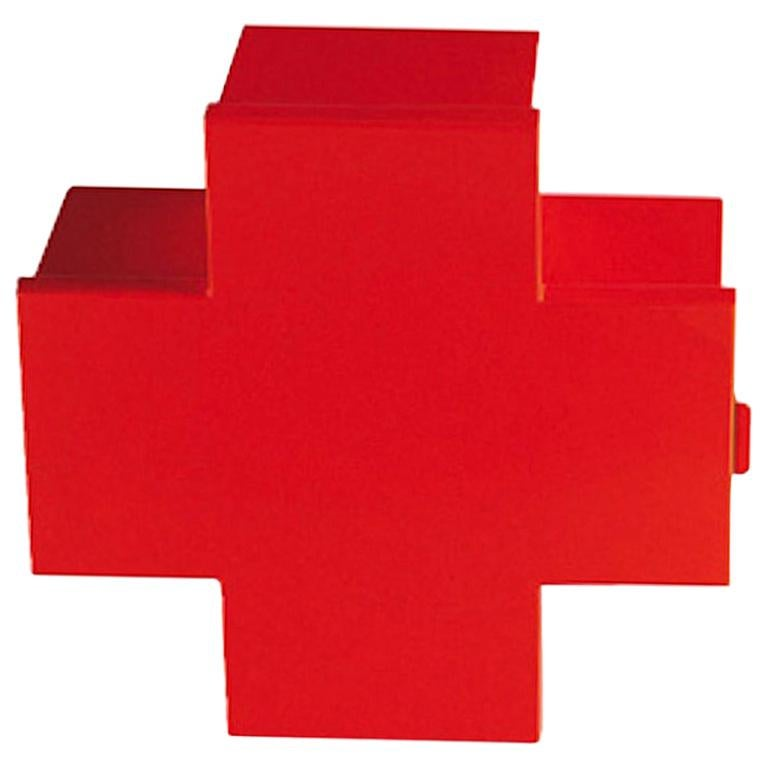 Thomas Eriksson Cross Cabinet in Red Glossy Metal for Cappellini