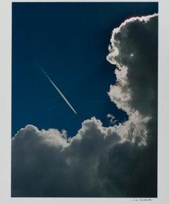 """Plane Into Cloud, AZ,"" Color Photograph signed by Thomas Ferderbar"