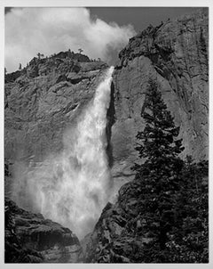 """Yosemite Falls,"" Black and White Photograph signed by Thomas Ferderbar"