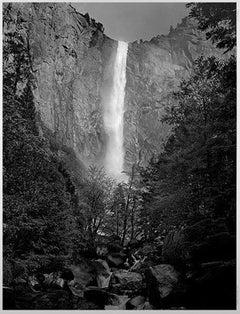 """Yosemite Falls Close Up,"" Black & White Photograph signed by Thomas Ferderbar"
