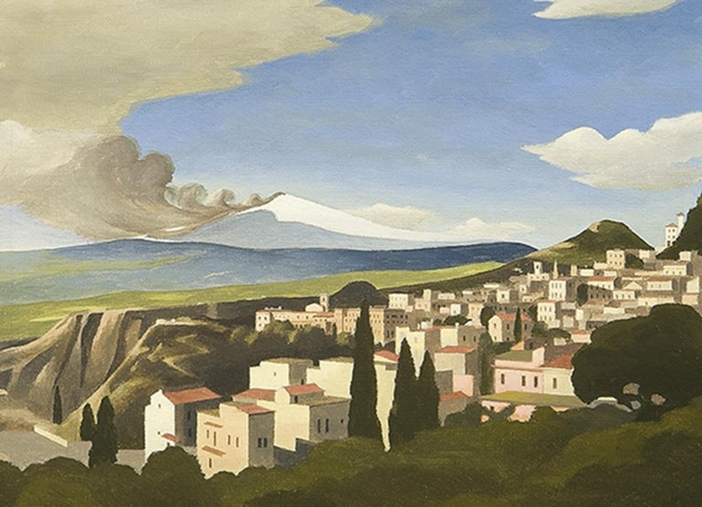 Mt. Etna from Taormina - Painting by Thomas Fransioli