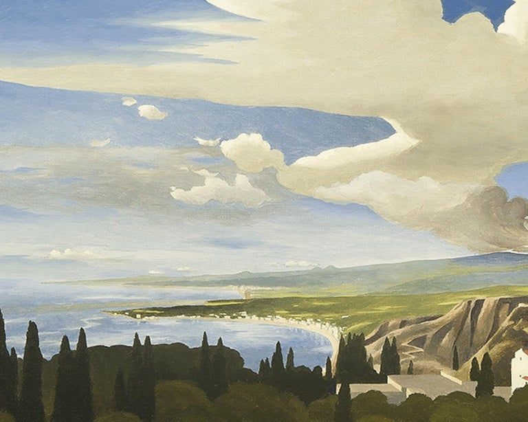Mt. Etna from Taormina - American Realist Painting by Thomas Fransioli