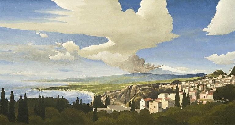 Thomas Fransioli Landscape Painting - Mt. Etna from Taormina