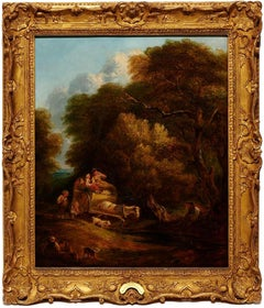 18th c. Thomas Gainsborough (attr) Landscape Oil Painting