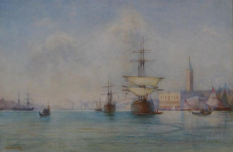 "Thomas Hale Sanders Landscape Painting - ""The Lagoon, Venice"""