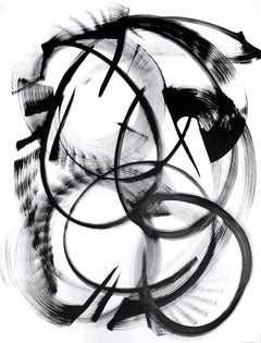 Delta Muscae - Black and White Painting