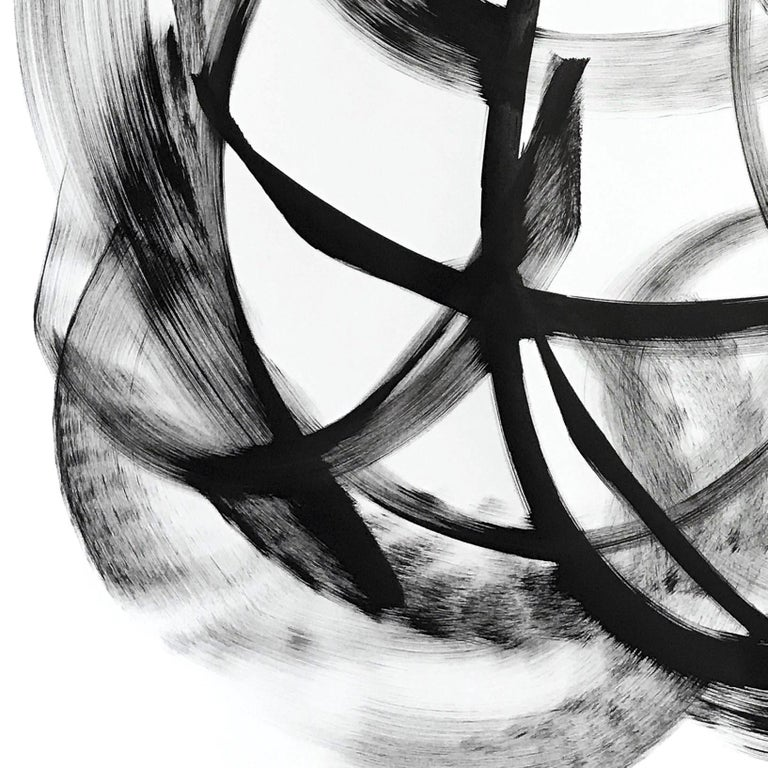 Misam - Black and White Painting For Sale 1