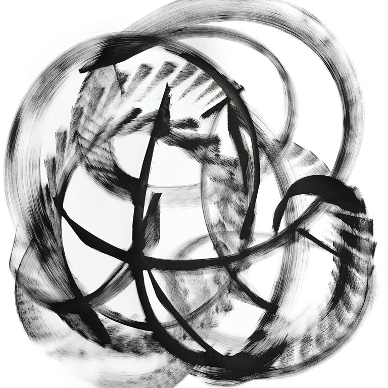 Thomas Hammer Abstract Painting - Misam - Black and White Painting