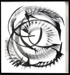 Zeta Cassiopeiae - Black and White Painting