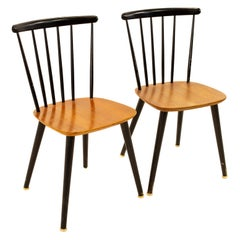 Pair of Thomas Harlev for Farstrup Mobelfabrik Danish Mid Century Dining Chairs