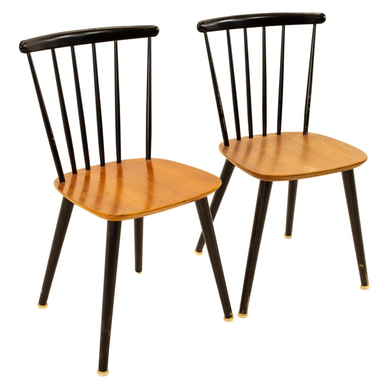 Pair of Thomas Harlev for Farstrup Mobelfabrik Danish Mid Century Dining Chairs For Sale
