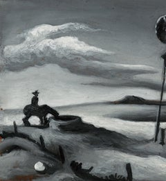 """Cowboy at the Well (Study for """"Open Country"""")"""