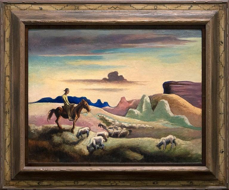 Navajo Sands - Painting by Thomas Hart Benton