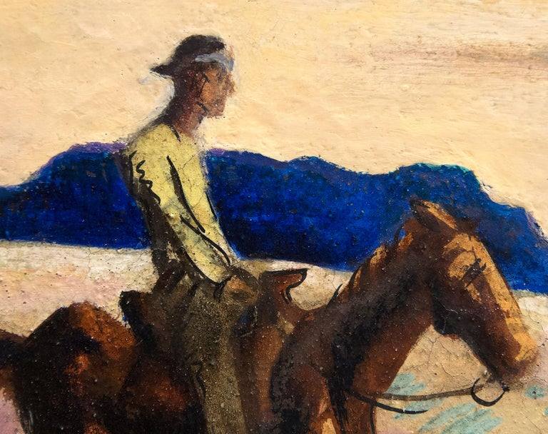 Navajo Sands - Brown Landscape Painting by Thomas Hart Benton