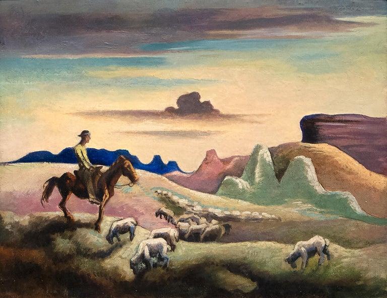 Thomas Hart Benton Landscape Painting - Navajo Sands