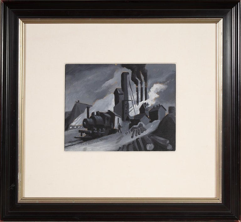 Study for 'Lumber Mill'  - Painting by Thomas Hart Benton