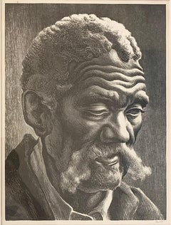 Aaron, American Social Realist Lithograph