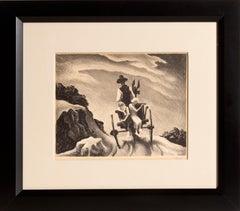 Goin' Home, American Modern Lithograph by Thomas Hart Benton