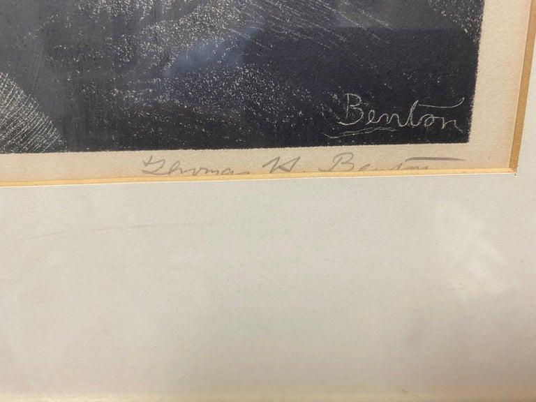 The Hymn Singer - Gray Portrait Print by Thomas Hart Benton