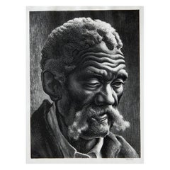 Thomas Hart Benton Original Stone Lithograph, 1941, Aaron