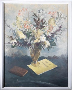 Thomas Henslow Barnard RWA (1898-1992) - Mid 20th Century Oil, Summer Flowers