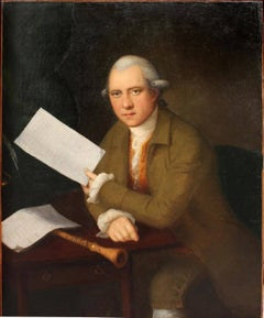 Oil Painting Portrait of the oboist John Parke (1745–1829)