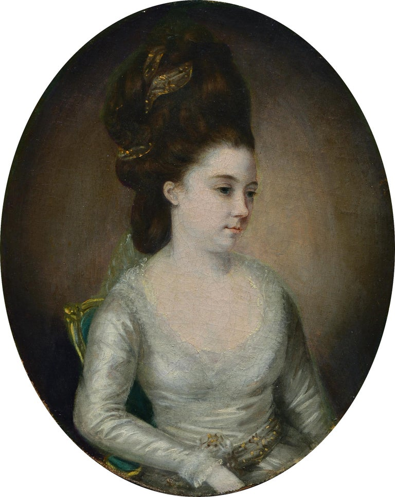 Thomas Hickey Portrait Painting - Portrait of a Lady