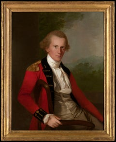 Portrait of an East India Company officer attributed to Thomas Hickey
